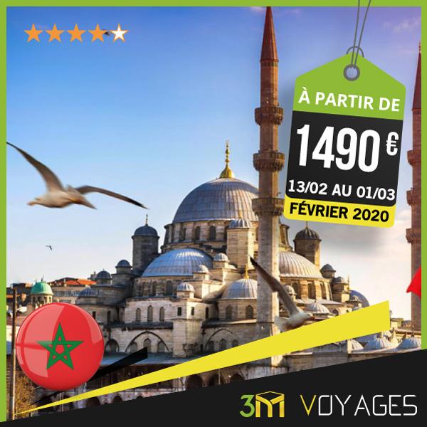 Depuis Casablanca Omra Combiné Istanbul Février 2020